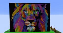 Lion Pixel Art Minecraft