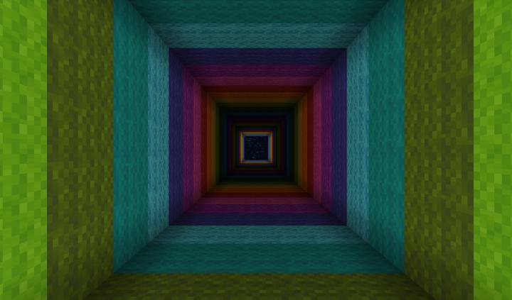 Inside The Dropper Tower Rainbow Portal