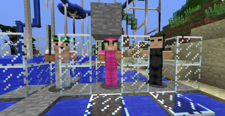 Zombies are Pink Guy, ZombiePigmen are Salamander Man, & Husks are ChinChin