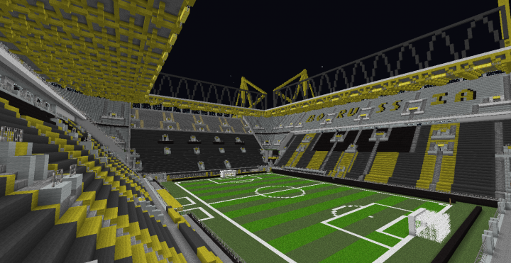 signal iduna park dortmund minecraft project. Black Bedroom Furniture Sets. Home Design Ideas