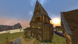 Medieval-Tall House Minecraft Map & Project