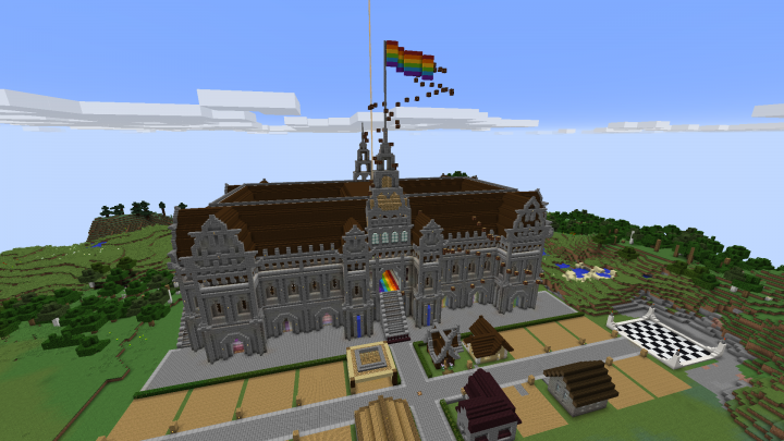 Popular Server Project : Updated Chapel with pride flag!
