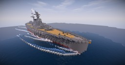 "Battleship""Kaga"" Minecraft Map & Project"