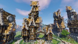 Maison SteamPunk avec Maisonnette Minecraft Map & Project