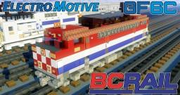 [1.5:1 Scale] BC Rail EMD GMD GF6C electric locomotive Minecraft Map & Project