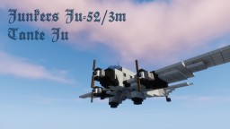 Junkers Ju-52/3m Lufthansa 1,5:1 Minecraft Map & Project