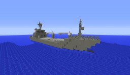 Aerial - Military Cargo Ship Minecraft Map & Project