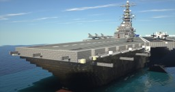 Aircraft carrier and airplanes Minecraft