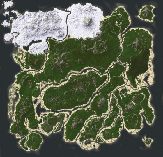 Popular Project : Map from the game ARK: Survival Evolved