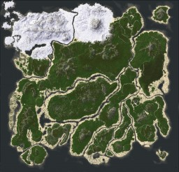 Map from the game ARK: Survival Evolved Minecraft