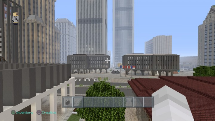 view of Church st.  and The World Trade Center from 911 Memorial park2018