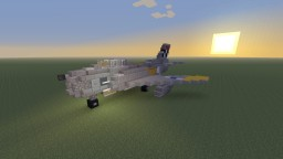 North American F-86 Sabre jet fighter Minecraft Map & Project