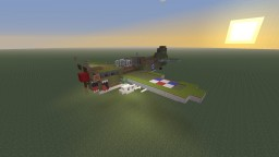 WWII U.S Curtiss P-40 Warhawk, USAAF, Desert and Flying Tigers camo Minecraft Map & Project