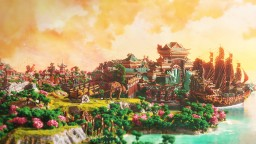 Xin Tiantang, an oriental utopia 2500x2500 [TIMELAPSE] [DOWNLOAD] Minecraft