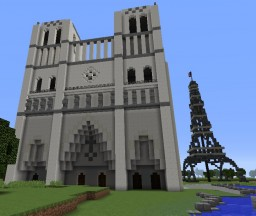 Notre Dame & Eiffel Tower Minecraft Map & Project