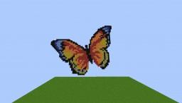 Butterfly Pixel Art Minecraft Map & Project