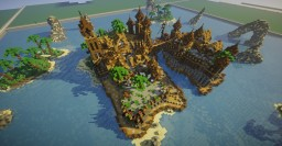 Caribbean themed spawn Minecraft Map & Project