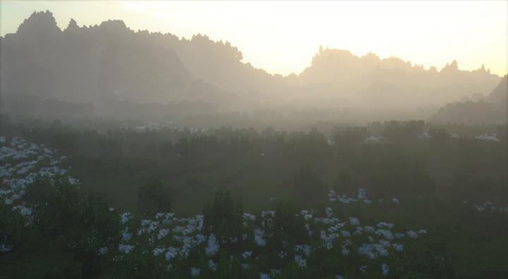 Dawn Over Valley - SEUS Shader