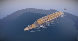 "IJN  Aircraft carrier""Kaga"" Minecraft Map & Project"