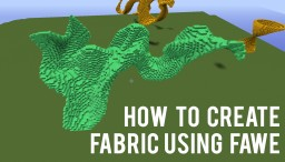[ FAWE Guide ] Creating Fabrics using /br spline + //Image Brush Technique Minecraft
