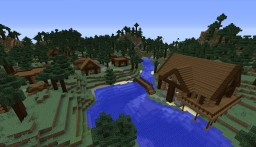 Spruce Town Minecraft Map & Project