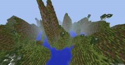 Lakes, trees and mountains Minecraft Map & Project