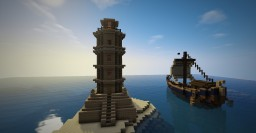 Roman lighthouse Minecraft Map & Project