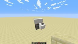 Smallest Possible Seamless Flush Vertical Double Piston Extender Minecraft Map & Project