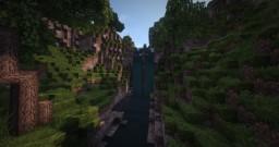 waterfall landscape Minecraft