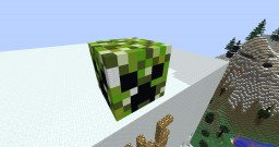 3D Creeper Head Minecraft Map & Project