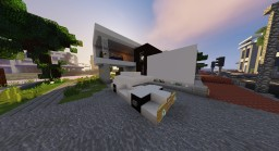 2 Little Modern Houses Beside Calm River Minecraft Map & Project