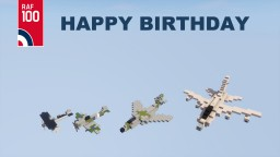Happy Birthday RAF Minecraft