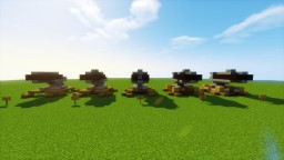 Clash Of Clans Cannons 1-5 Levels! Minecraft Map & Project
