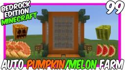 4 Way Crop Powered Melon Pumpkin Farm Bedrock Edition Minecraft Map & Project