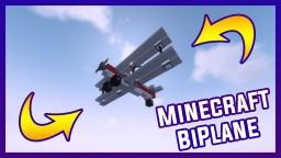 Minecraft BiPlane 1.8 | By Szeski + Download Minecraft Map & Project