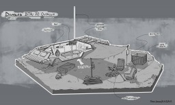 Disabled BTR-70 Outpost Minecraft