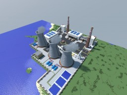 (Fairly) Realistic Coal Thermoelectric Power Plant (world map) Minecraft Map & Project