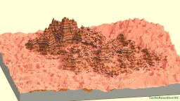 Mesa Mountains Embeded In Red Sand Dunes Minecraft