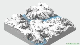 Snowy Mountains with Frozen Rivers Minecraft Map & Project