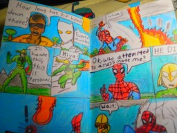 THE FIRST 8- PAGE COMIC BOOK IN FULL COLOR!(homemade!!!!) Minecraft