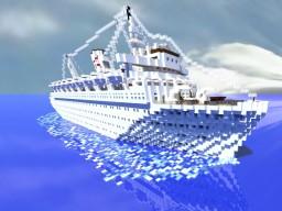 MV Wilhelm Gustloff 1.1 exterior only Minecraft Map & Project