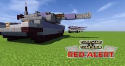 C&C Red Alert Medium Tank Minecraft Map & Project