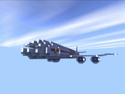 Four-engine Passenger Aircraft Minecraft Map & Project