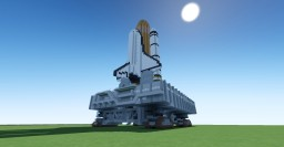 Space Shuttle with Crawler Transporter Minecraft