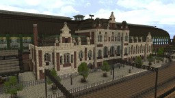 Station Holland Spoor - 19th Centruy Railroad station [Conquest Reforged] Minecraft