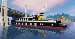 River Steam Boat [Full Interior] !! Minecraft