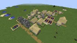 Birch Village on Superflat World (Overworld) Minecraft Map & Project