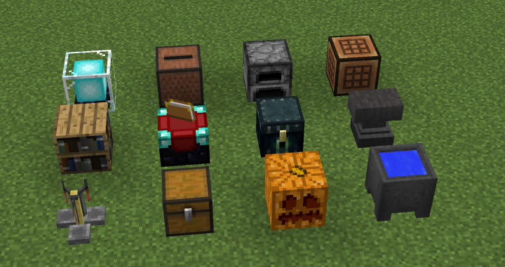 Dropper - Dispenser - Observer - Sticky Piston - Comparator - Daylight Sensor - Note Block