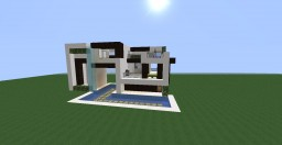 Modern house 1.12 - Decorated with Chisel mod Minecraft Map & Project