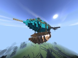 Luxury Steampunk Airship Minecraft Map & Project